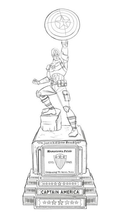 estatuaBrooklyn-capitan-america-RedLanComics